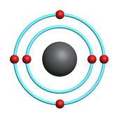 Carbon atom on white background — Stock Photo