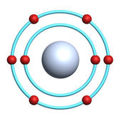Oxygen atom on white background — Stock Photo