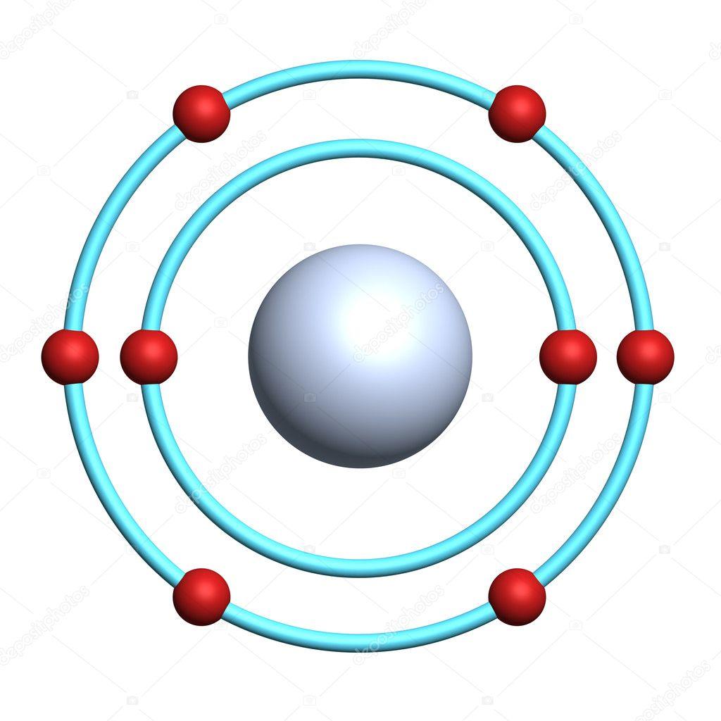 Oxygen atom on white background — Stock Photo © Bojan Zivic #