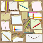 Office supplies composition — Stockvektor