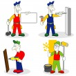Stock Vector: Workers with tools