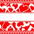 Valentine card background — Stock Vector