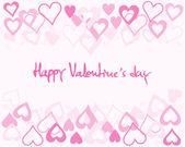 Fondo de tarjeta de san valentín — Vector de stock