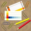 Office supplies composition — Stock Vector #8874484