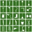 Stock Vector: Garden tools icons