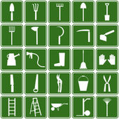 Garden tools icons — Stockvektor