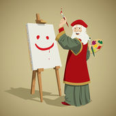 Leonardo da vinci painting a smile — Stock Photo