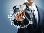 Interfaccia touchscreen — Foto Stock