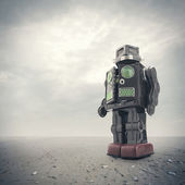 Retro tin robot toy — Stock Photo