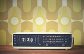 Radio z budzikiem — Zdjęcie stockowe