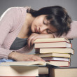 Student fell asleep — Stock Photo
