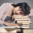 Stock Photo: Student fell asleep