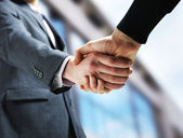 Two businessmen shaking hands. — Stock Photo