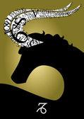 Zodiac sign capricorn — Stock Photo