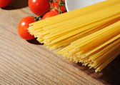 Italian pasta ingredients, Mediterranean diet — Stock Photo