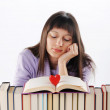 Young woman Dreaming about love and romance — Stock Photo #8352106