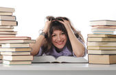 Female student with books — Stockfoto