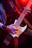 Rock live, eller yukarı kapatın — Stok fotoğraf