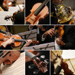 Classical music collage — 图库照片