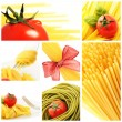 Italian pasta collage — Foto Stock