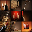 Stock Photo: Wine collage