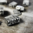 Block letters: new year 2012 — Stock Photo