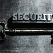 "Word ""security "" of antique metal letter-press type. — Stock Photo #9036363"