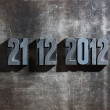 Antique metal letter-press typ: Doomsday 21. December 2012 — Stock Photo #9036700