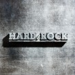Stock Photo: Metal HARD ROCK background : antique metal letter-press type.