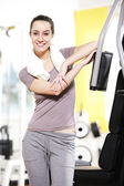 Fitness portrait: A young female stays fit. — Stock Photo