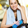 Portrait of a relaxed attractive young woman after exercise — ストック写真