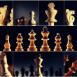 Chess image collection — Stock Photo