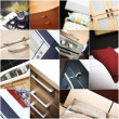Collage of home interiors — Foto Stock