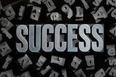 Sukces koncepcji związanych z słowa — Zdjęcie stockowe