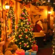 Santa claus home — Stockfoto