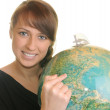 Stock Photo: Geography student