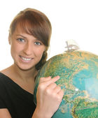 Geography student — Photo