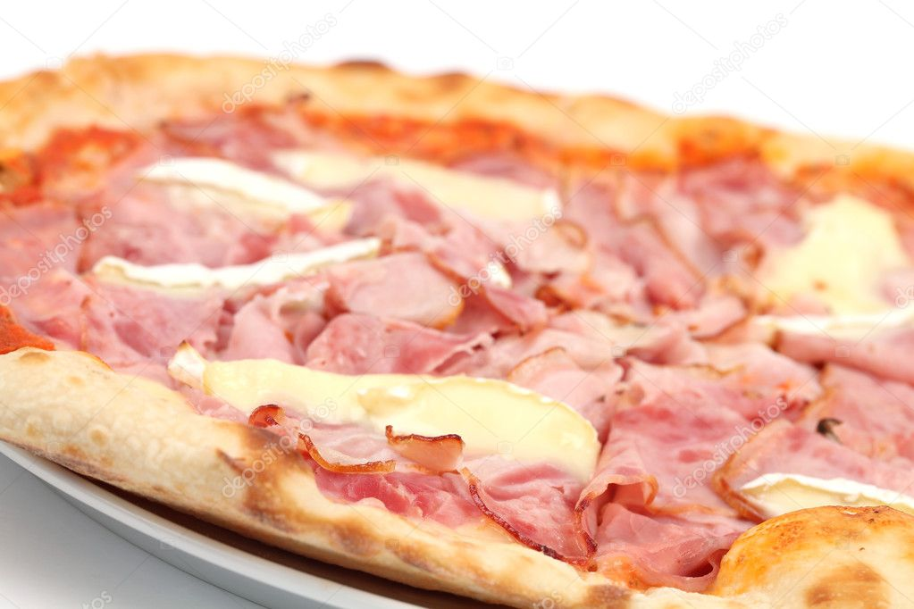 Pizza Romana on white background. Shallow dof — Stock Photo #8428623