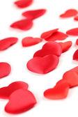 Heart shaped confetti background — Stock Photo