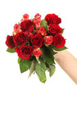 Hand with roses — Stock Photo
