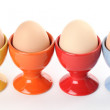 Royalty-Free Stock Photo: Eggcups with eggs