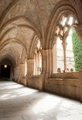 Romanesque cloister — Stock Photo
