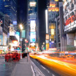 New York times Square by night — ストック写真