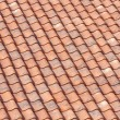 Orange roof tiles background — Stock Photo