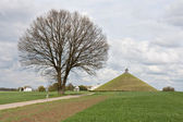 Statue Lion's Mound at battlefield of Waterloo, Belgium — Stock Photo