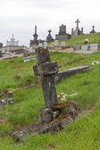 Old cross at a Belgium cemetery — Stock Photo