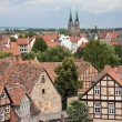 Cityscape of medieval city Quedlinburg — Stock Photo