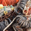 Big pile of fishing nets — Photo #8013758