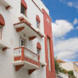 Facade of an old building at Santa Cruz, Canary Islands — Stock Photo