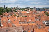 Cityscape of medieval city Quedlinburg — Stock Photo